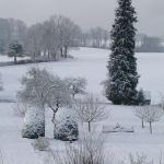 Les champs enneigés, Gite de la Rouquette, location vacances Auvergne