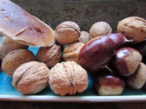Cèpes, châtaignes et noix