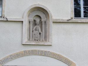 La Vierge rescapée de l'Abbaye de Bonneval en Aveyron