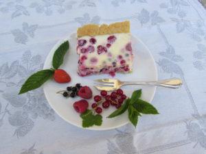 Mon gâteau aux fruits rouges du jardin