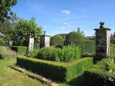 Les topiaires de buis du jardin de la Rouquette