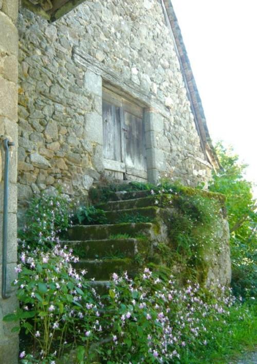 L'escalier de l'ancienne grange
