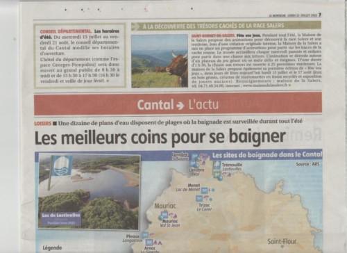 les meilleures baignades du Cantal-1